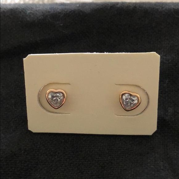 f2bc46c28 Pandora Rose Gold One Love CZ Heart Stud Earrings.  M_5c6ccdd5819e902df46d223c